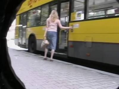 Geiler draußen Fick mit im Bus